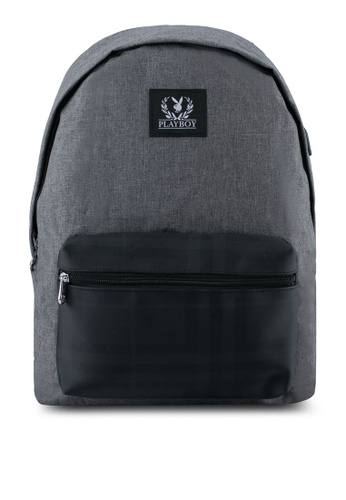 Playboy grey Playboy Backpack With USB Charging Port PL371AC0SK0PMY_1