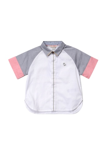 PONEY white Poney Toddler Rayson Raglan Short Sleeve Shirt E87B3KA93BF239GS_1