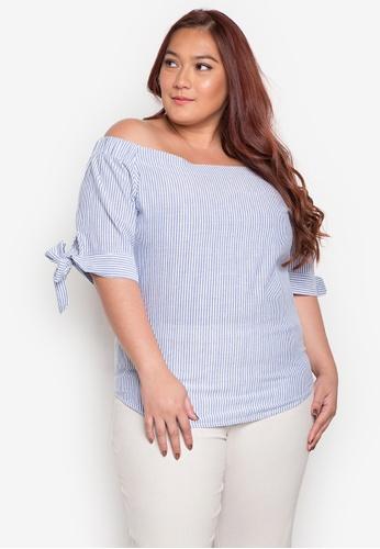 Audrey blue Ana Plus Size Blouse AU926AA0JOXAPH_1