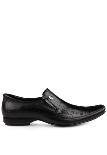 Marelli black Men Bologna Leather Shoes Black AJNOZSH0000038GS_1