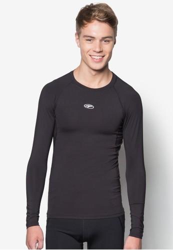 素色長袖緊身衣esprit官網, 服飾, 彈力運動服飾