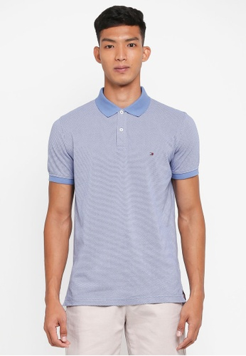 Tommy Hilfiger blue MICRO PRINT REGULAR POLO 0DEC4AAE29EB73GS_1
