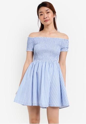 Something Borrowed white Smoked Fit & Flare Dress 105DDAA75ECC6AGS_1