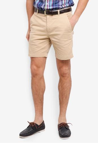 Brooks Brothers 米褐色 休閒素色短褲 8D2BBAAAD1F0C9GS_1
