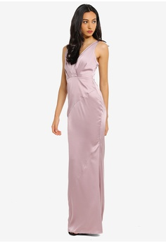 9b8385591c 23% OFF MISSGUIDED Bridesmaids V Plunge Satin Maxi Dress RM 299.00 NOW RM  228.90 Sizes 6 8 10 12 14