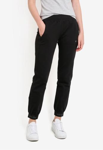 Calvin Klein black Skinny Fit CK Logo Elastic Hem Sweatpants - Calvin Klein Performance CA221AA85DPYMY_1