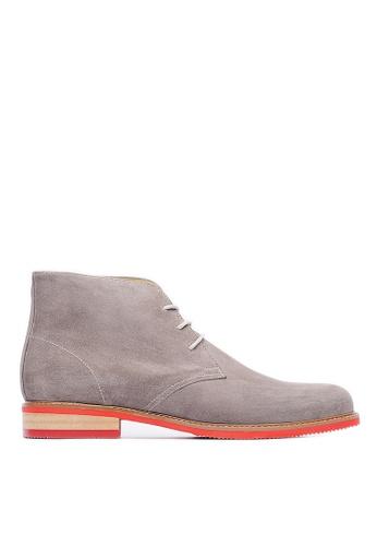 Life8 grey Men's Pointy-Toe Casual Boots-09683-Grey LI286SH0RW8DMY_1