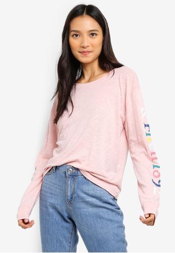 0d9cb6e6947dd Abercrombie & Fitch pink Long Sleeve Rainbow Logo T-Shirt A908CAA4CE76FCGS_1