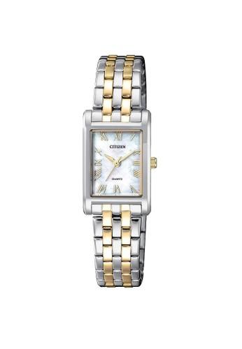Citizen silver Citizen Analog Quartz Watch EJ6124-53D Silver Dial with Silver Gold Steel Strap 5ECECACB2A61A9GS_1
