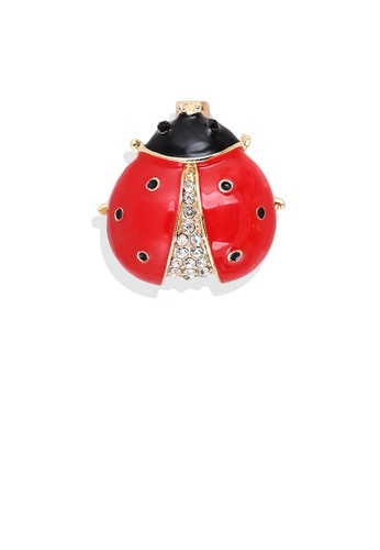 Glamorousky white Fashion Personality Plated Gold Red Ladybug Brooch with Cubic Zirconia E82EAAC0943C9DGS_1