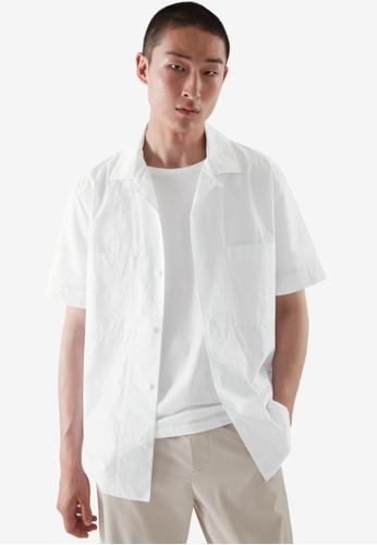 COS white Regular-Fit Camp Collar Shirt 1AA44AA1D19881GS_1