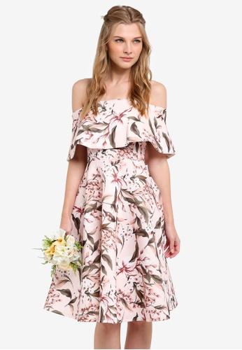ZALORA pink Bridesmaid Off Shoulder Fit & Flare Dress 678C8AA751D812GS_1