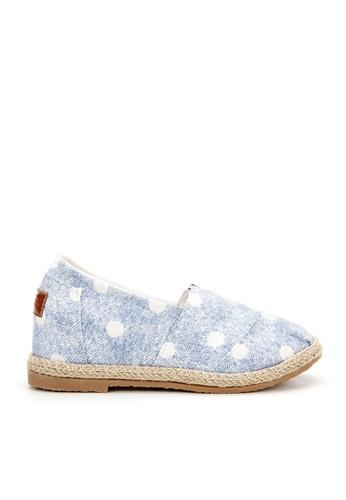 KissXXX 藍色 可愛小雪球美腿效果5CM內增高帆布休閒鞋 KI603SH09OD5TW_1