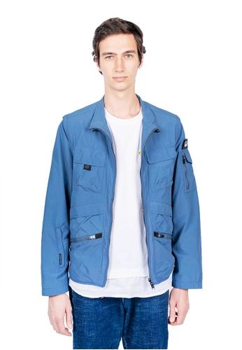 East Pole blue Men's 17 Pockets Detachable Sleeves Travel Windbreaker Jacket 26B1EAA3243F9BGS_1