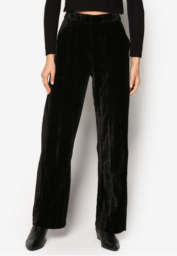 緞感寬zalora 心得管長褲, 服飾, 長褲及內搭褲