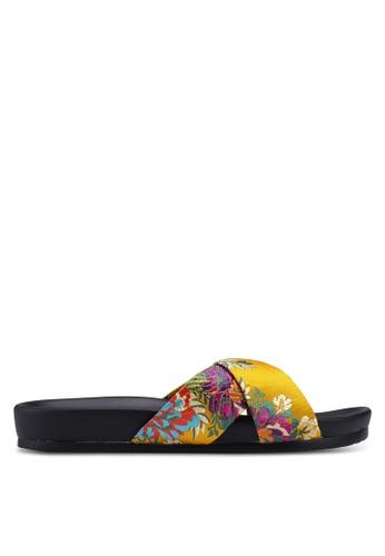 Public Desire yellow Emery Sandals 1E177SH75B8F09GS_1