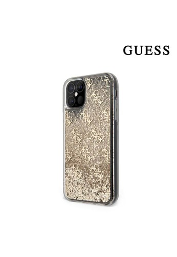 Guess gold Case IPhone 12 / 12 Pro Guess Liquid Glitter 4G Gold 27852ESD50C486GS_1