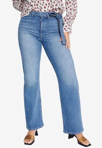 Violeta by MANGO blue Plus Size Jeans Wide Leg 18922AA786F0F2GS_1