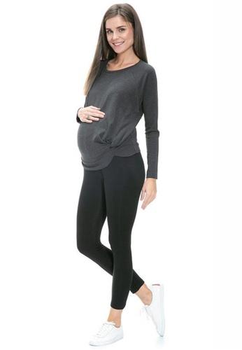 Mayarya black Fleece Lined Leggings in Black 69F45AA4FF1D8DGS_1