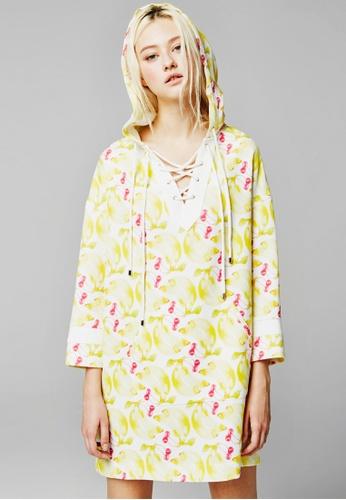 Sweet One Eighty yellow and multi Banana Cherry Hoodie SW186AA86FVDSG_1