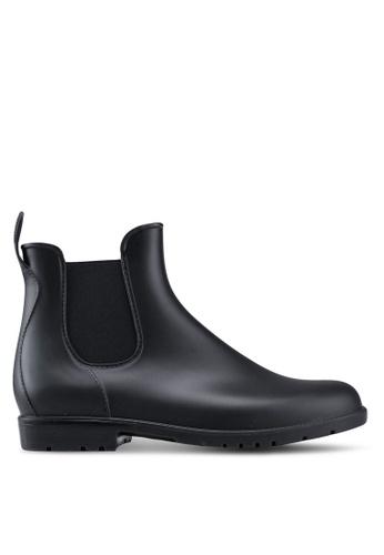Twenty Eight Shoes black Riding Rain Boots B5E99SH1182E83GS_1