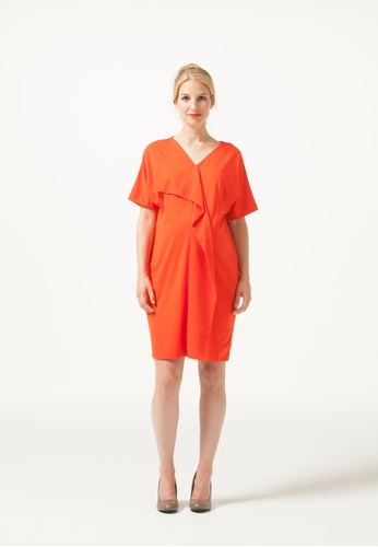 Bove by Spring Maternity orange Fayme Dress Coral Red A7554AAD98DAA6GS_1