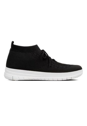 FitFlop black Fitflop Uberknit Slip On High Top Sneaker Black 15D66SH36E47EFGS_1