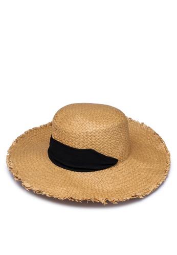 Pieces beige Tonerosa Straw Hat CFE86AC46E52C6GS_1