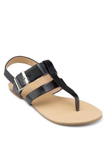 寬帶繞踝平底涼鞋, 女鞋, 涼zalora taiwan 時尚購物網鞋