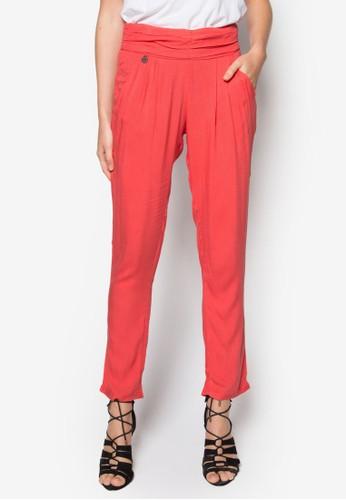 Teesprit 請人traz 褶飾錐形長褲, 服飾, 知性女強人
