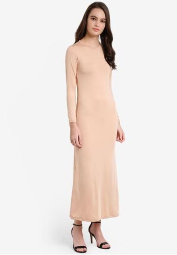 Lubna beige Inner Dress 175E2AA1415EBDGS_1