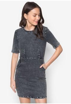 Love Long Sleeve Denim Bodycon Dress