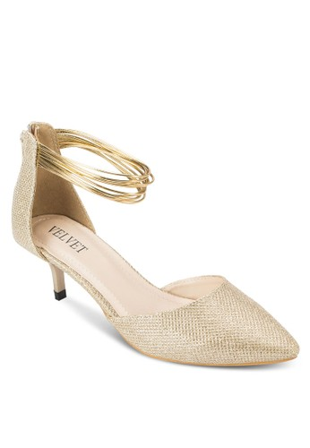 Occasion 尖頭多帶繞踝esprit holdings limited低跟細跟鞋, 女鞋, 厚底高跟鞋