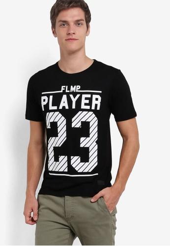 Flesh IMP black Player 23 Graphic T-Shirt FL064AA75SAMMY_1