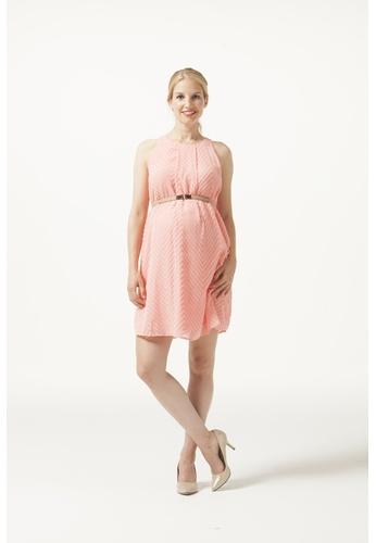 Bove by Spring Maternity pink Woven Sleeveless Carmene Fringe Dress Pink IDN2901 BO010AA0FKHUSG_1