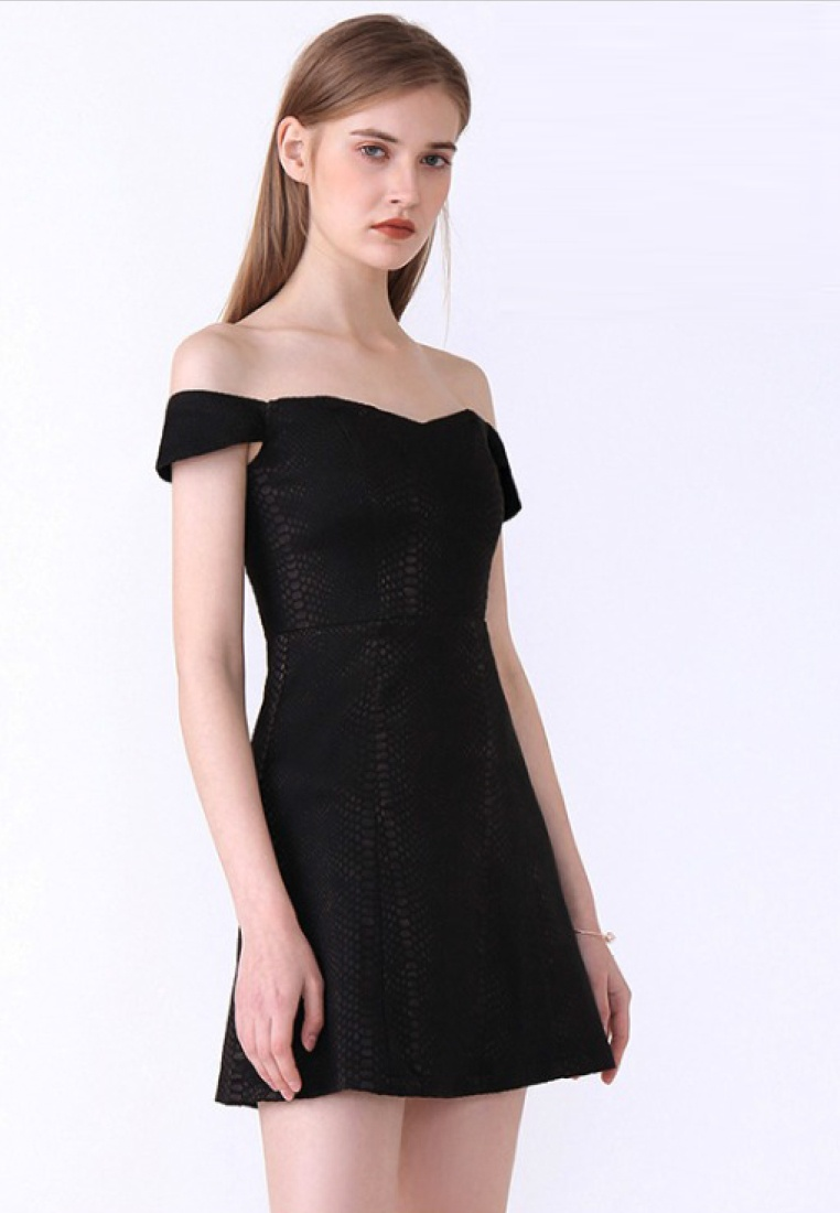Sweetheart New Off Dress One Black A060419BK Black 2018 Shoulder Piece Sunnydaysweety Style OBwEdnggxA