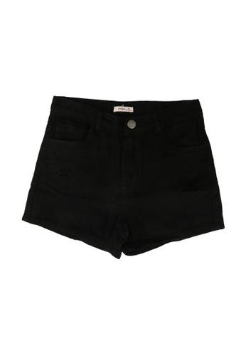 FOX Kids & Baby black Kids Girl Distressed Denim Shorts 7335CKA6A77C9FGS_1