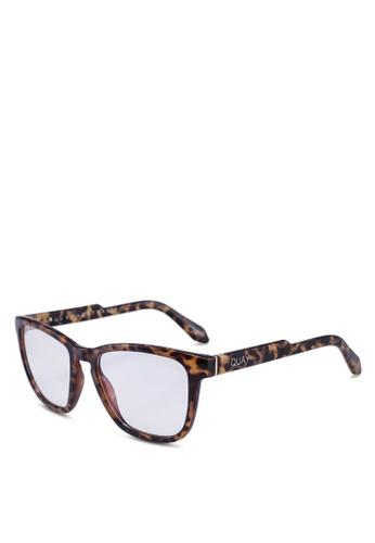 Quay Australia 褐色 HARDWIRE Glasses 9ACEDGL9CF3889GS_1