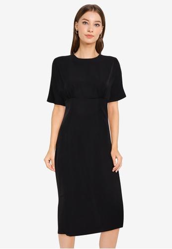 ZALORA WORK black Wide Sleeves Dress FE17FAA5F7A617GS_1