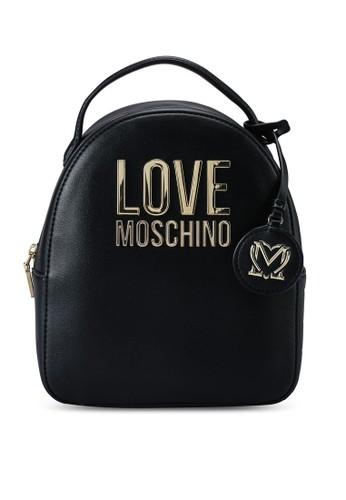 Love Moschino black Love Logo Backpack 24F06AC61D85B4GS_1