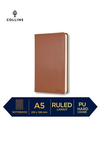Collins brown Collins William - Notebook A5 Slim Ruled Brown DA1CEHLFC36409GS_1