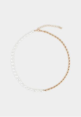Pomelo gold Pearl Twist Chain Necklace - Gold 91160ACC94F142GS_1