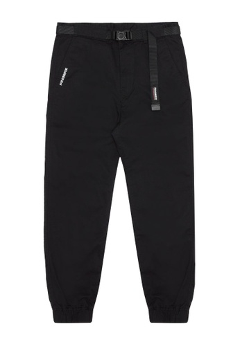 Fingercroxx black Buckle belt pants 0444EAA8EAC639GS_1