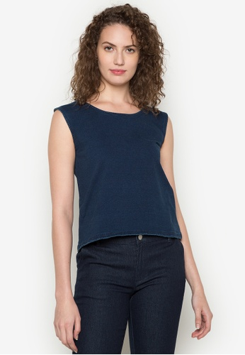 Shop BENCH Zip Back Sleeveless Top Online on ZALORA Philippines 0516f84c4