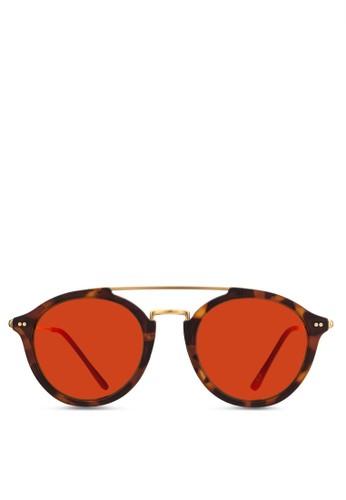 Fitzroy 玳瑁反光太陽眼鏡, 飾品配件, 飾品配esprit 包件