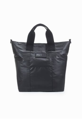 Life8 black Casual Lightweight Canvas Totes Bag-06500-Black 08AE0AC564253EGS_1
