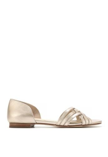 Rabeanco gold RABEANCO KIRA Sandals - Metallic Golden B8D21SHDF54A44GS_1