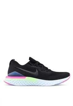 6a2d9a9a3123 Nike black Nike Epic React Flyknit 2 Shoes 77EEASH613C96EGS 1