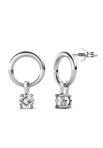 Her Jewellery silver Octavia Earrings (White Gold) -  Embellished with Crystals from Swarovski® E3AE7ACA78F62CGS_1