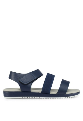 Bata navy Bata Pebbled Texture Sandals FEB1ESH19B315CGS_1